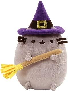 GUND Pusheen Witch Halloween Cat Plush Stuffed Animal, Gray, 7.5
