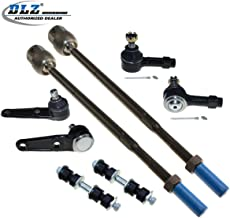 8 Pcs Front Suspension Kit-2 Lower Ball Joint 2 Inner 2 Outer Tie Rod End 2 Sway Bar Link Compatible with Ford Escort 1992 1993 1994 1995 1996