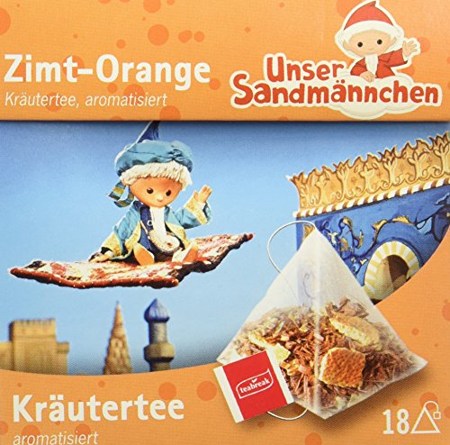 Teabreak Sandmännchen Kräutertee Zimt Orange, 8er Pack (8 x 36 g)