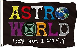 علم Astroworld Look Mom I Can Fly Flag 3x5 أقدام خارجي ديكور داخلي مع اثنين من الحلقات النحاسية