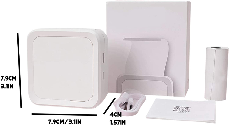 N// Impresora port/átil del Bluetooth Impresora t/érmica peque/ña Impresora port/átil de la Foto del Bolsillo de la Pregunta Incorrecta