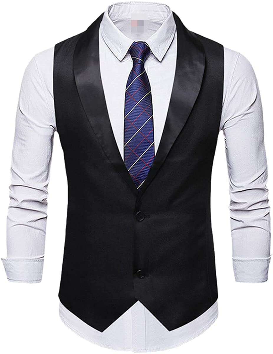 Red wedding groom tuxedo vest men shawl collar slim dress vest vest men's party casual