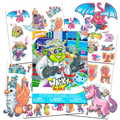 Savvi Mystical Creature Temporary Tattoos for Girls Boys Kids Toddlers -- 53 Medieval Tattoos Featuring Unicorn Dragon Griffin Knight Princess Designs