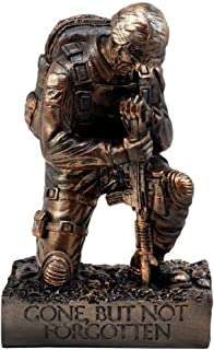 Ky & Co YK Soldier Memorial Figurine Collection The Silent Salute 8.5