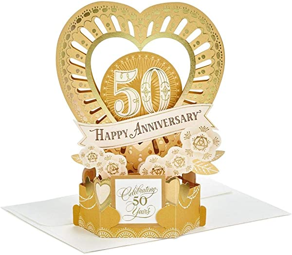 Paper Wonder Celebrate The Years Pop Up 50th Anniversary Card