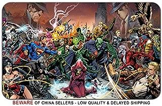 Justice League Comic Book Superhero Stylish Playmat Mousepad (24 x 14) Inches [MP] Justice League SH-10