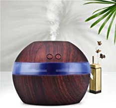 Wowlela Aromatherapie Essentiële Olie Diffuser, 300 ml Houtnerf USB Ultrasone Luchtbevochtiger Cool Mist Aroma Luchtbevoch...