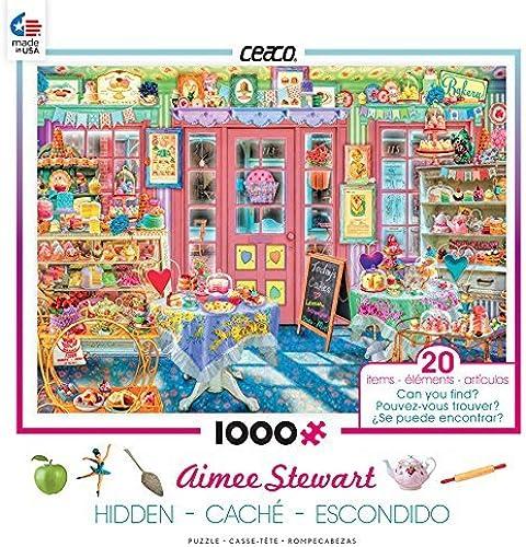Ceaco Aimee Stewart - Hidden in The Cake Shop Puzzle (1000 Piece) by Ceaco