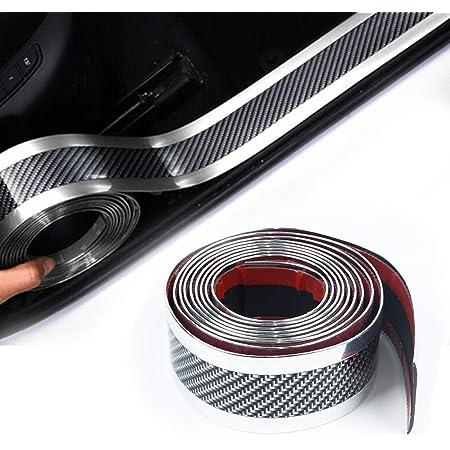 Auto Einstiegsleisten 5cmx300cm Carbon Türschwelle Lackschutzfolie Pedal Schützen Anti Kick Scratch Auto