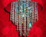 Lámpara de techo colgante con cristales de Swarovski, color plateado brillante