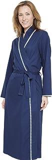 Cyberjammies 1296 Women's Nora Rose Adele Blue Tile Dressing Gown Loungewear Bath Robe Robe