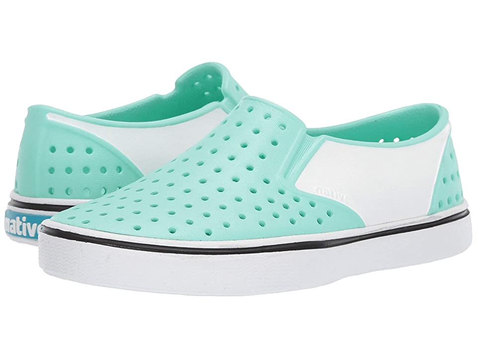 Native Kids Shoes Miles Block (Little Kid) (Glass Green/Shell White/Shell Block) Kids Shoes