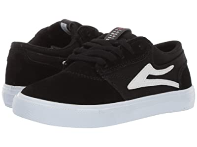 Lakai Griffin (Little Kid/Big Kid) (Black/White Suede 2) Men