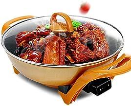 Sooiy Antiadhésives électrique Grill électrique Multifonction Maison Barbecue électrique électrique Hot Pot récipient Pot ...