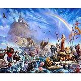 CPFYZH Jeu éducatif de Puzzle de 1000 pièces pour Adultes et Enfants Histoire biblique de l'arche de Noé