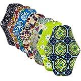 Ealicere 7 Stück 25.5 cm Slipeinlagen Waschbar Pads Wiederverwendbare aus