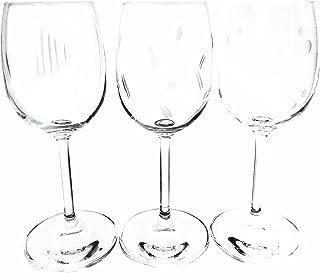 Verres à vin cristal INAO taillés main estampillés Klein 54120 Baccarat France, lot de 6 (24cl)