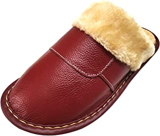 HRFEER Women's Cozy Faux Fur House Slippers Men Slipper Memory Foam Fluffy Lined/Anti-Skid Indoor&Outdoor