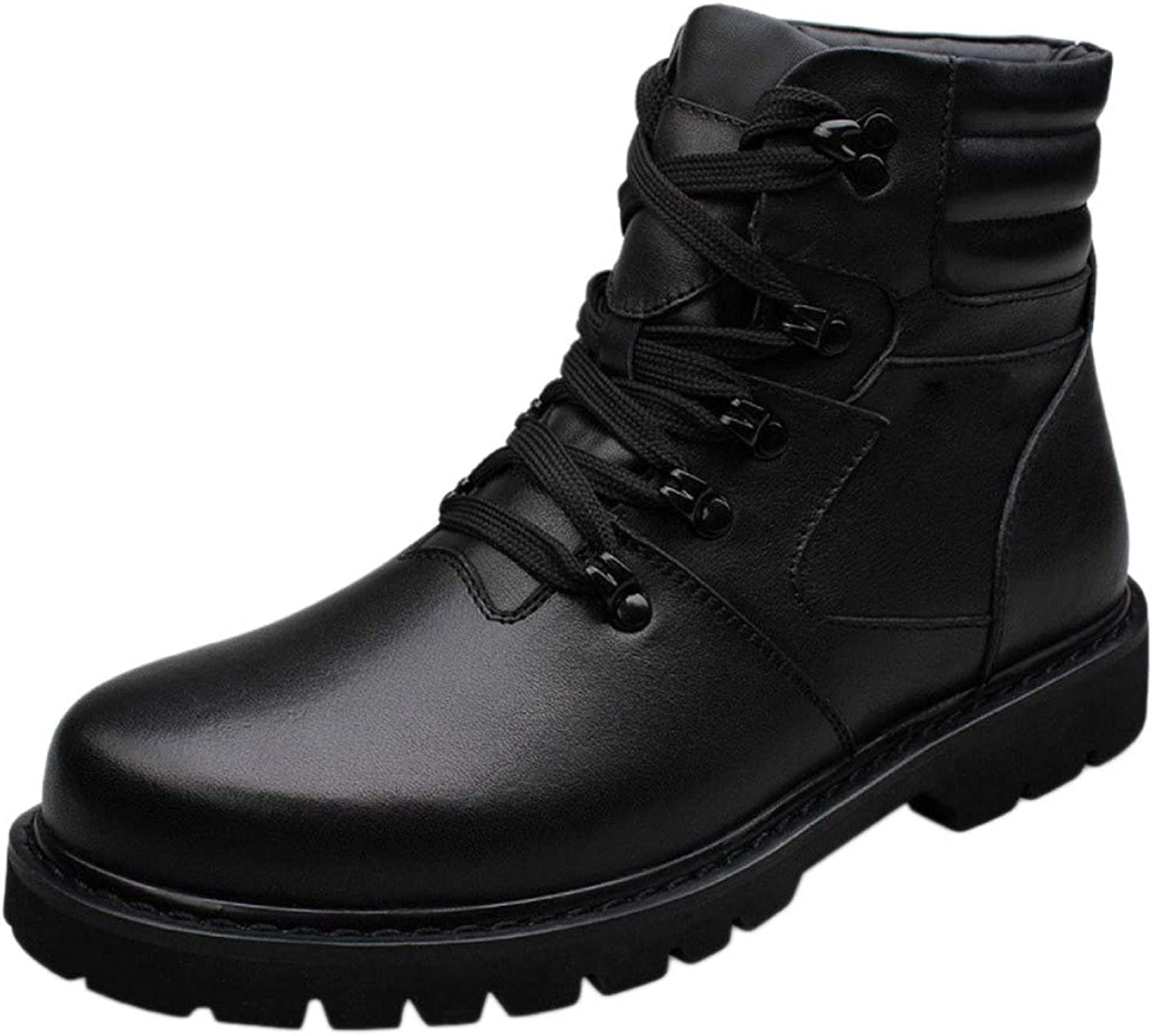 Martin Boots Mens Adult Boots Lamper Boots Classic Leather Winter Non-Slip Warm High Plus Military shoes