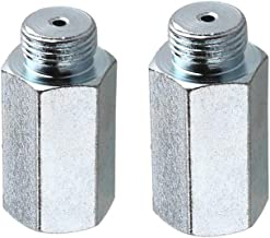 Oxygen Sensor Extender,Universal Fit Oxygen O2 Sensor Spacer Adapter Extenders M18x1.5 Galvanized (Pack of 2)