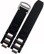[jiroo] 腕時計 ベルト シリコン ラバーバンド 20mm 黒色バンド 銀色バックル