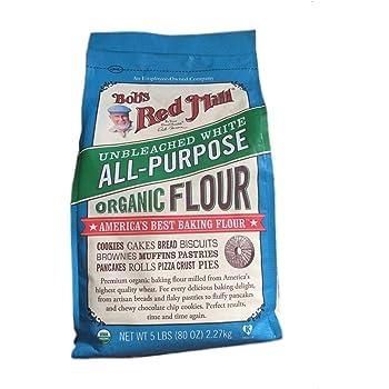 Bob's Red Mill Organic White Flour - Unbleached - 5 lb
