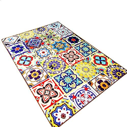 Now free shipping Max 77% OFF LELVA Modern Rugs Ethnic Style Bedroom Non-Slip Living Mats