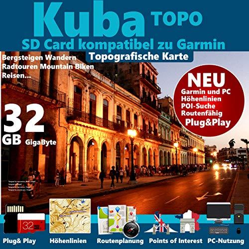 ★Kuba Cuba Karte Outdoor Topo GPS Karte GB microSD Card passend zu GARMIN Navi, PC & MAC für Garmin Navigationsgeräte Navigationssoftware ★