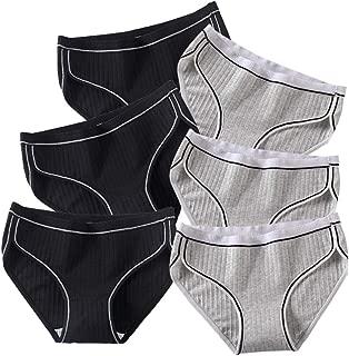 Eleplus Women's Underwear Hi-Cut Cotton Briefs Stretch Ladies Panties Multi-Pack