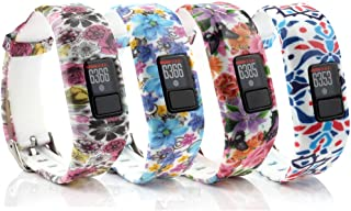 honecumi Watchbands Compatible with Garmin Vivofit 3 / JR/JR.2 Bands Replacement Accessory-Garmin Vivofit 3 Silicone Wristbands Exchange Watch Strap Band Bracelet-Colorful Adjustable Strap
