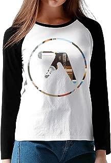 HAIGUANGZ Design Aphex Twin Baseball T Shirts Long Sleeve for Woman Black
