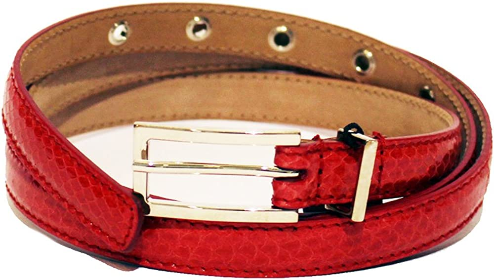 Dolce & gabbana d&g ,cintura per donna,in pelle  ayers martellata DC0984E80D/80313