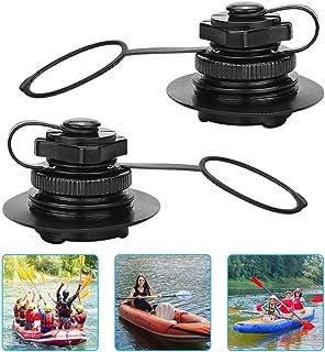 KLYNGTSK 2 PCS Válvula de Aire de Bote Barco Inflable de Piragua Kayak Canoa Colchón Inflable Colchoneta Hinchable con Tapa y Rosca Válvula de Aire de Boston para Bote Inflable, Balsa, Bote de Goma