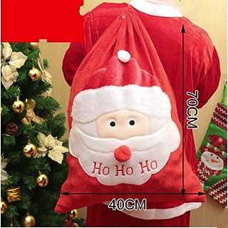 クリスマスデコレーションラージクリスマスギフトバッグトートバッグクリエイティブギフトキャンディバッグエラスティックスモールクリスマスソックス