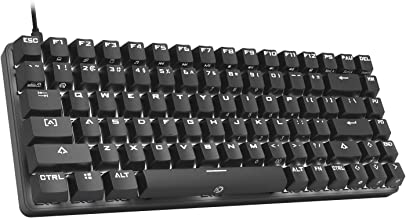 DREVO Excalibur 84 Full Metal Mechanical Gaming Keyboard with White LED Backlit (Outemu Blue Switch, Black)
