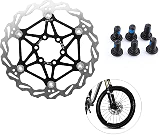 Vbestlife Mountain Bike Type Floating Brake Disc Rotors Bicycle Brake Pad Cycling Accessory with 6 pcs T25 Screws