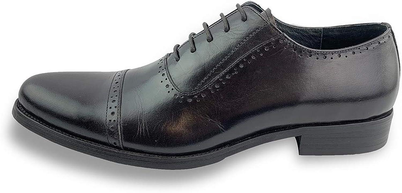Men's Dress shoes Business Oxford Cap Toe (color   Black, Size   10.5 UK)