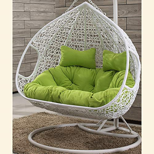 Brown Rattan Chair,Double Person Hanging Chair,Hanging Egg Hammock Chair,Terrace Courtyard Swing Chair, Swing Double Seat Cushioning Thick Nest Hanging Chair,C