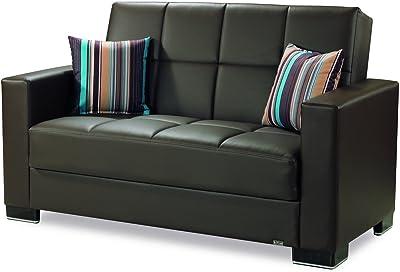 Amazon.com: Convertible sofá sillón cama reclinable tumbona ...