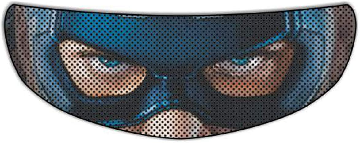 Mail order Captain America Universal Perforated Motorcycle Max 58% OFF Helmet Tin Visor