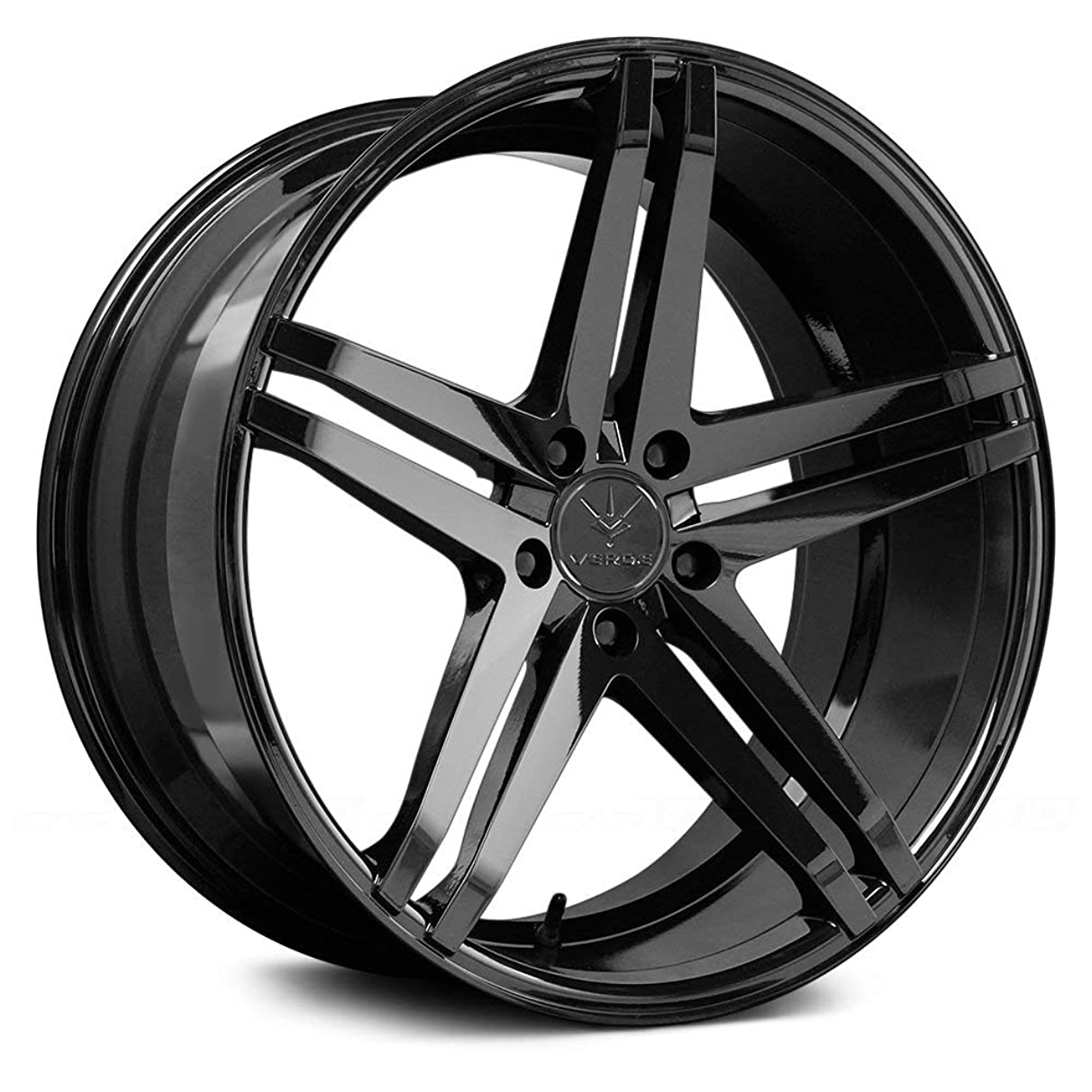 Verde Custom Wheels Parallax Gloss Black Wheel with Painted Finish (19 x 9.5 inches /5 x 120 mm, 22 mm Offset)