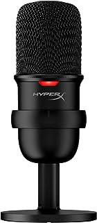 HyperX SoloCast - Micrófono Condensador USB para PC, PS4 y Mac, Sensor de Llave para silenciar, patrón Polar cardioide, Ju...