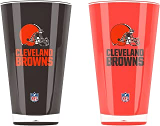 NFL Cleveland Browns 20oz Insulated Acrylic Tumbler Set of 2
