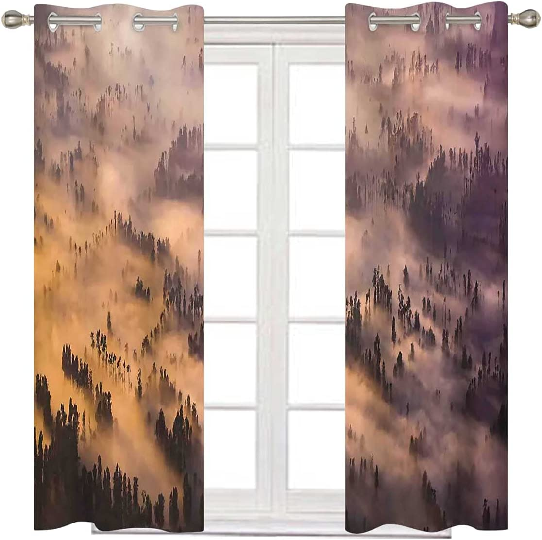 Blackout Curtain Panels 2 Set Award 84 Inches Summer Forest Department store Long Morn