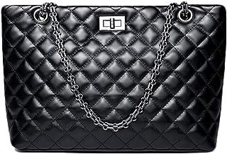 0969e7d456 Mishuo sac bandouliere femme petit sac à main noir cuir matelassé avec  bandoulière chaîne tendance vintage