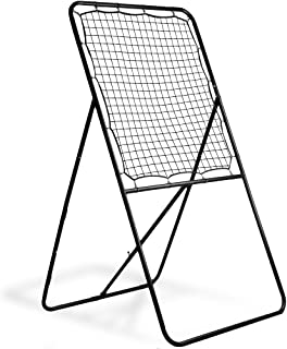 Crown Sporting Goods Multi-Position Lacrosse Rebounder Wall, Extra-Wide Steel Frame Backstop with Nylon Netting – Practice Passing, Shooting, Catching, Reacting