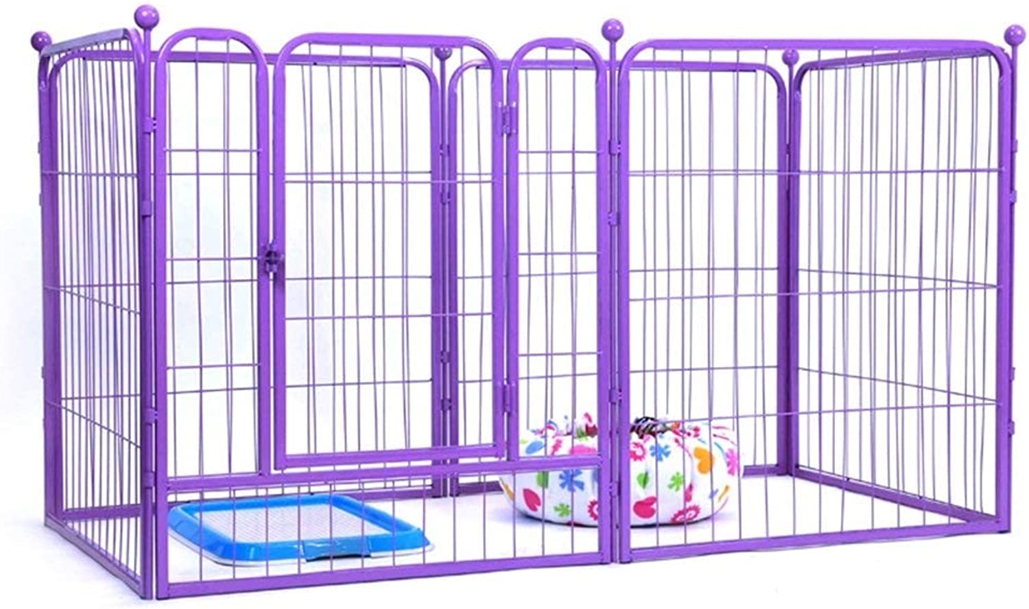 GBY Welpenzaun Heavyduty 6panel shell dog pet cat pen cage puppy playing fence running large 80 x 100 cm Tragbarer zusammenklappbarer Haustierzaun (Size   160  80  100CM)