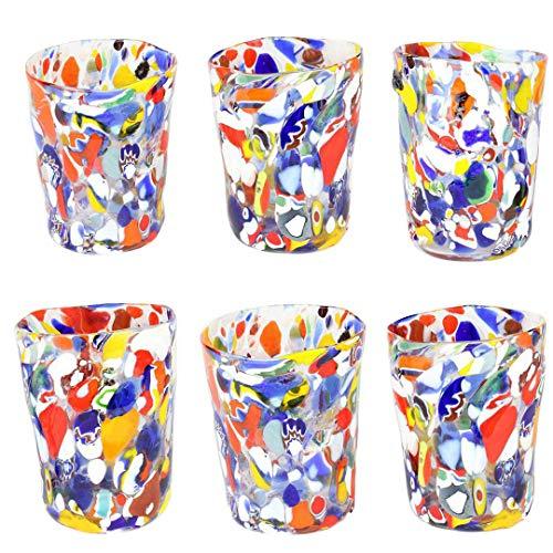 Juego de 6 vasos Carneval en Venecia – Original Murano Glass