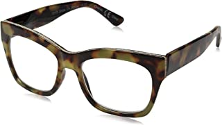 Peepers by PeeperSpecs Women's Shine on Focus Square Blue Light Filtering Reading Glasses