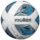 Molten -F5A3555-K - Balón de fútbol de Entrenamiento (Talla 5), Color Blanco, Azul y Plateado